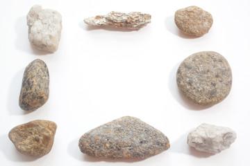 Stones arranged into a frame