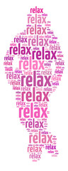 """Conceptual words illustration of the word """"Relax"""""""