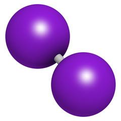Iodine (I2) molecule.