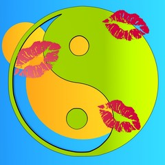 happy kissed ying yang