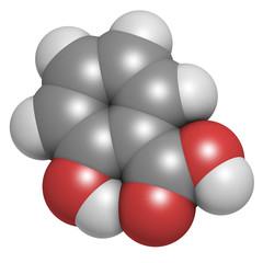 Salicylic acid molecule.