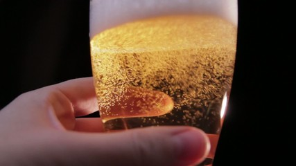 Beer Poured with Hand