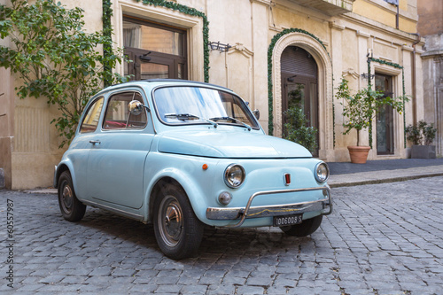 Canvas Rome Fiat 500 dans les Rues de Rome
