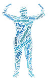 Words illustration of the concept of success and determination poster