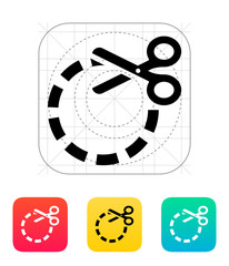 Cut circle icon.