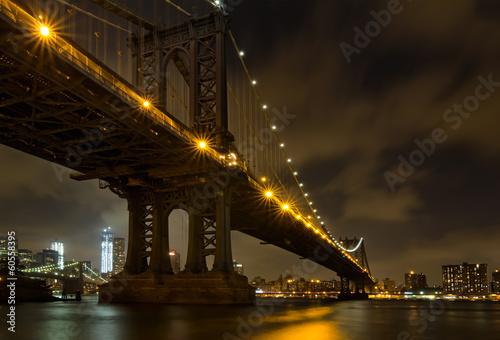 New York City Bridges at night