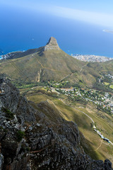 Aerial View of Cape Town Coastline  South Africa.
