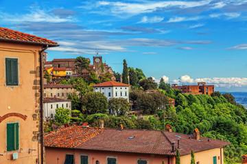 Italian town Montekatini Alto. Cityscape.