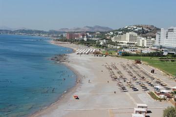 Rhodes Island Greece beach Aerial