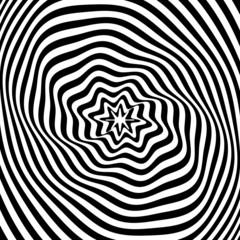 Abstract illusion texture. Op art design.