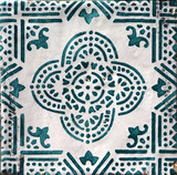 Detail of the traditional tiles from Valencia, Spain