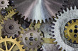 clock mechanism gears and cogs macro - 60560701