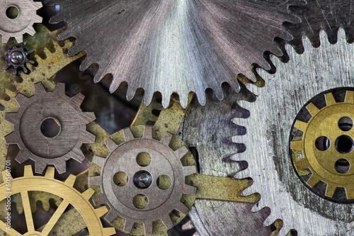 clock mechanism gears and cogs macro - 60560701