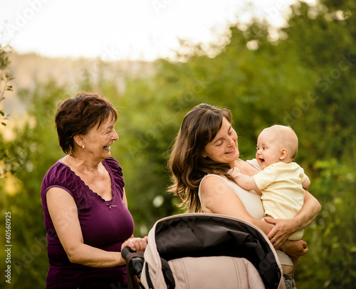 Generations - grandmother, mother, baby