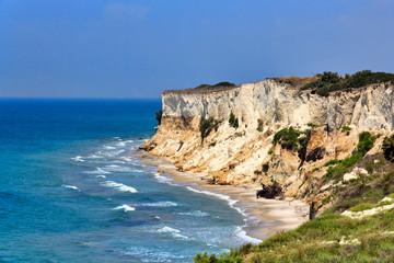 Impressive seaside rock formations on Kos island Greece