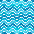 Seamless blue wave striped pattern