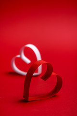 Valentine's paper hearts