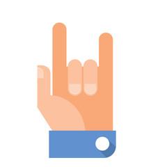 Rock - Vector hand gesture