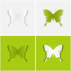 Schmetterling Hintergrund-Karte