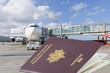 avion et passeports, concept voyages