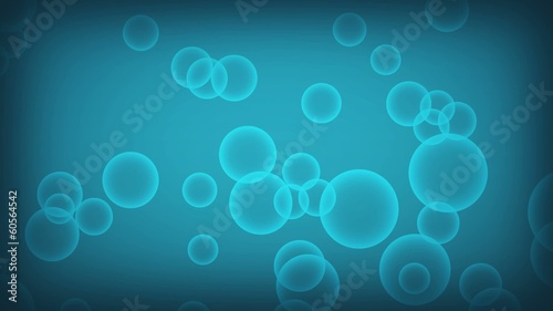 Air bubbles in blue water background