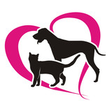 Fototapeta symbol cat and dog