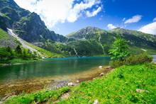 oko jeziora morza w Tatrach, Polska
