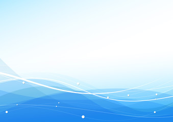 Transparent wavy blue modern certificate