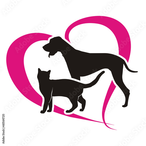 symbol cat and dog