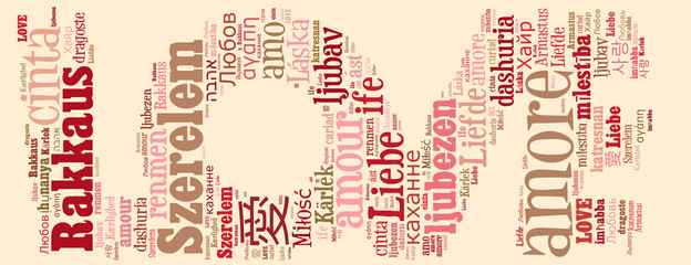 Love concept in tag cloud