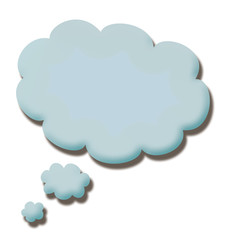 blue 3d talk cloud