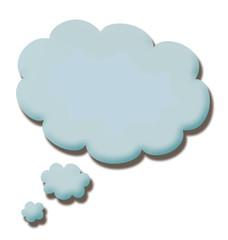 blue 3d talk cloud