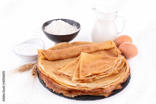 crepe and ingredients