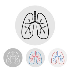 Human lungs symbol - vector illustration