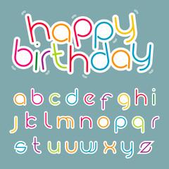 funky alphabet set