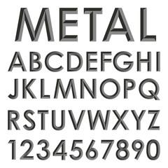 metallic alphabet set