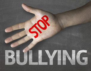 Educational composition with the message Stop Bullying