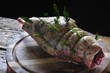 rolled lamb leg with herbs