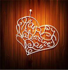 vector background, with the words (Valentine's Day) , pinned to