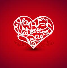 vector, inscription to Valentine's Day