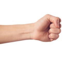 Gesturing human hand