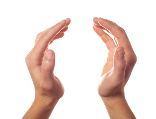 Applause two human hands isolated