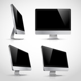 Realistic vector  template of computer monitor