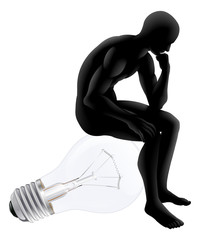 Thinker looking for an idea