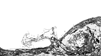 Abstract Water Splash on White Background