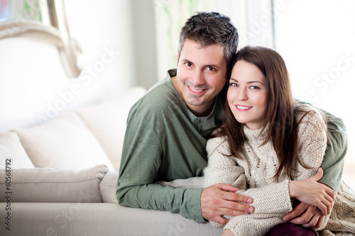 Beautiful young couple relaxing