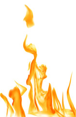 orange flame on white background illustration