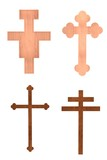 realistic 3d render of crucifixes