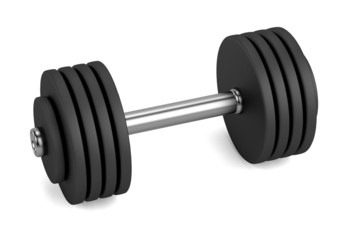 realistic 3d render of lifting weights