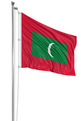 3D flag of Maldive